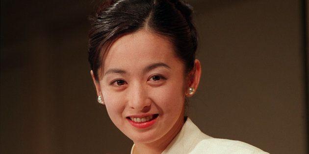 女優の斉藤由貴さん(東京・港区の東京プリンスホテル)