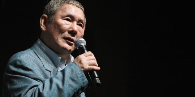 Japanese movie director Takeshi Kitano answers questions after winning the first Samurai Award of the...