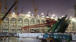 メッカで大型クレーン転倒、世界最大のモスクを直撃 107人死亡【動画】