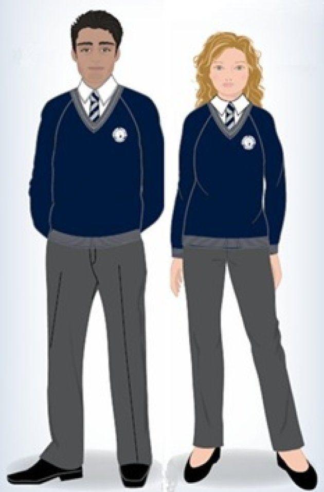 プライオリ・スクールのウェブサイトに掲載されている制服のイラスト。
