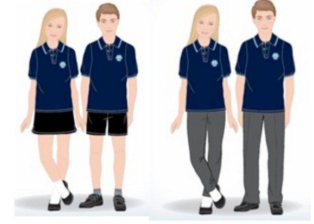暑い日は、ポロシャツとショートパンツの着用が認められる。