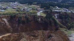 阿蘇大橋が崩落した地震被害がわかる ドローンで撮影した熊本(動画)