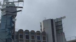 聖蹟桜ヶ丘のビル解体現場、強風でパネルが崩落
