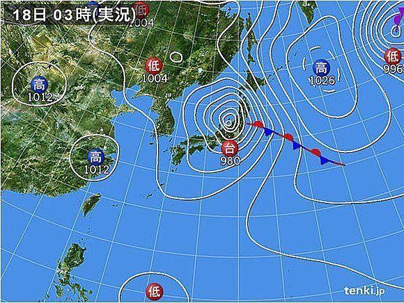 【台風18号】北海道に再上陸する見込み、天気に注意