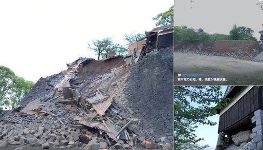 熊本城、加藤清正の築城当初から残る二つの櫓が倒壊【 #熊本地震