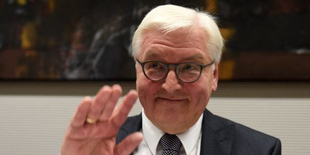 Former German Foreign Minister and presidential candidate Frank-Walter Steinmeier attends a party meeting...