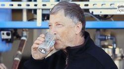 ビル・ゲイツ、「人間の排泄物からできた水」を飲む(動画)