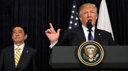トランプ大統領は一言だけ。北朝鮮ミサイル発射への声明、安倍首相と温度差