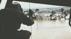 鬼怒川で堤防決壊 茨城・常総市の住宅地に水があふれる【UPDATE】