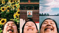 世界中からこんにちは。二重アゴ写真を自撮りし続ける21歳