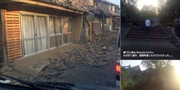 【熊本地震】震度7 益城町、熊本城の石垣倒壊...一夜明けた現地はいま(画像集)