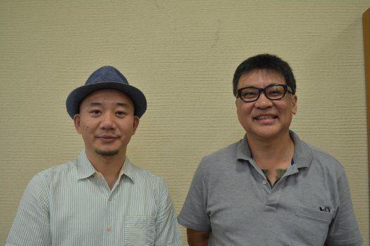 渡邊さん(写真右)と筆者