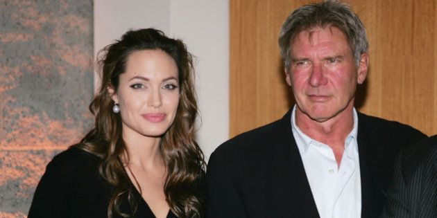 LOS ANGELES - DECEMBER 2: Actors Angelina Jolie and Harrison Ford attend the premiere of the United Artists...