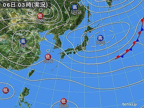 6日午後から各地で本降り 雷雨や局地的に激しい雨に警戒を