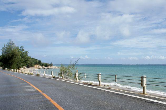 高江の事故現場に向かう途中の風景=10月12日午後、沖縄県東村
