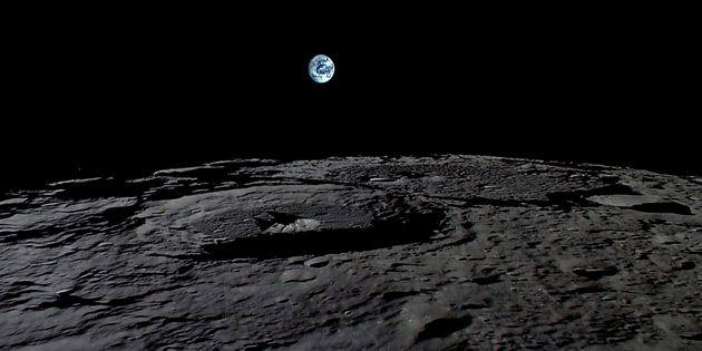 月面から見た地球。©︎JAXA,