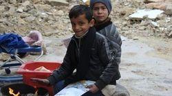 アレッポでは今も約200万人が水不足と極寒にさらされている。しかし、希望の光も見えている