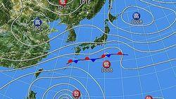 台風21号が徐々に北上 各地で雨、肌寒い1日