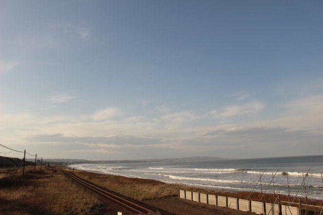 眼前に広がるオホーツク海
