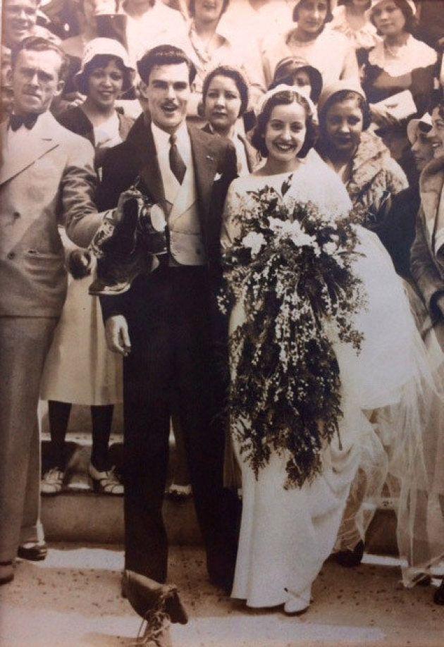 マリア・テレサ・モレノさんとマニュエル・モレノさん。1932年にロサンゼルスで結婚式を挙げた。