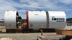 イーロン・マスク氏のトンネル会社、掘削機第2号が「ほぼ完成」