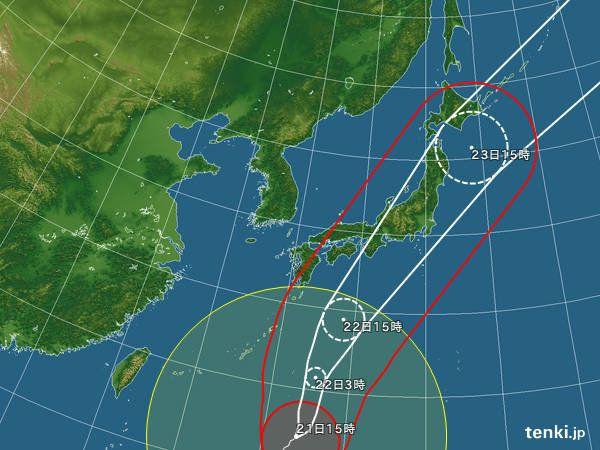 【台風21号】超大型、大雨や暴風を警戒すべき期間はいつ?