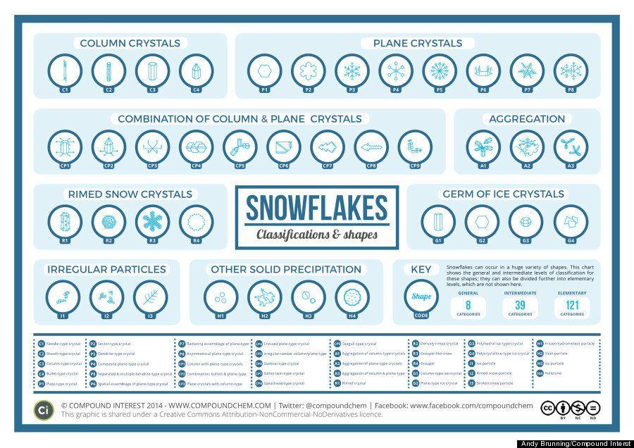雪の結晶は35種類に分類される コンピュータに応用する研究も(画像)