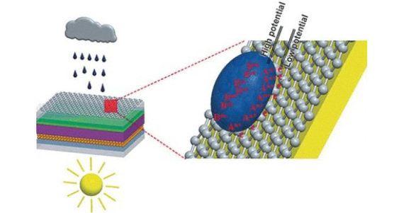 「雨で発電する太陽電池パネル」を開発。