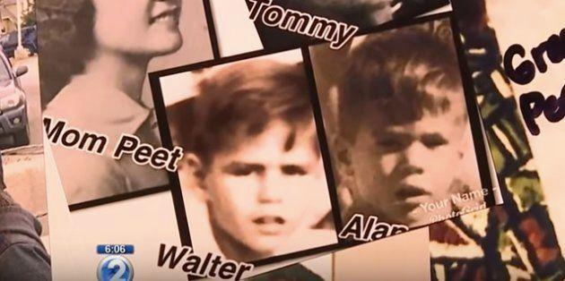 子どもの時の写真。左がマクファーレンさん、右がロビンソンさん