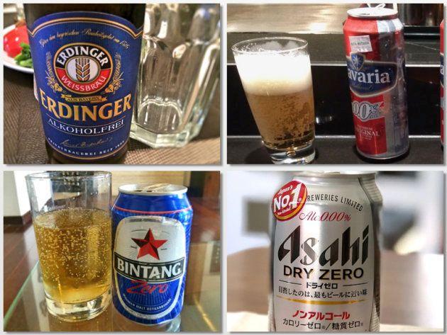 色んなノンアルコールビール。