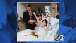 花嫁は結婚式で愛を誓った。がんで亡くなるわずか数時間前に