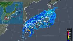 【台風22号】本体の雨雲が九州南部にかかり始める