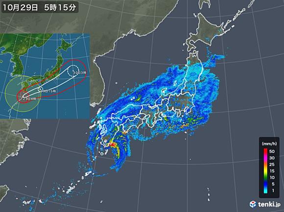 雨雲レーダー東広島