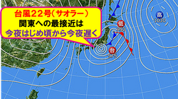 【台風22号】夜には関東に最接近 避難場所へはなるべく明るいうちに移動を