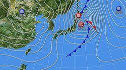台風22号から温帯低気圧に、東北・北海道は大荒れ