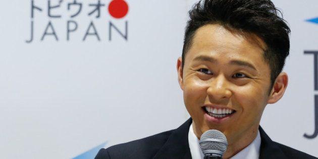 TOKYO, JAPAN - APRIL 10: Japanese multiple Olympic gold medalist breaststroke swimmer Kosuke Kitajima...