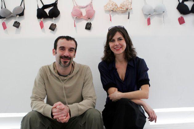 ドラジェン・グルビシッチさん(左)と、オリンカ・ヴラシュティツァさん