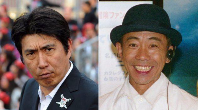 お笑いコンビ「とんねるず」の石橋貴明(左)と木梨憲武