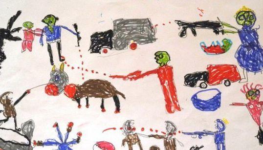 ボコ・ハラムの恐怖、襲われた子供たちが絵に描いた【画像】