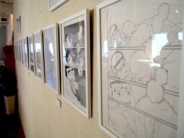irodoriの2Fに併設されている「カラフルステーション」では、「田亀源五郎『弟の夫』の世界展」と称し原画が展示されている。
