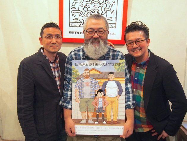 今回イベントに登壇した3名。左からNHKエンタープライズの須崎岳さん、田亀源五郎さん、そしてモデレーターをつとめた認定NPO法人good aging
