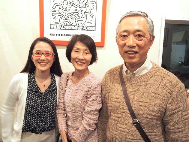 増原裕子さん(写真左)、増原さんの母(写真真ん中)、父(写真右)