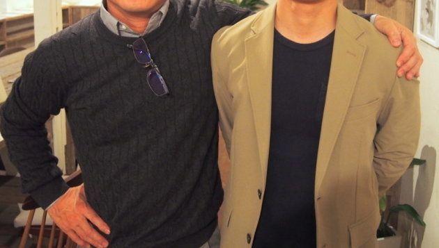父・Yさん(左)と、子のMさん(右)