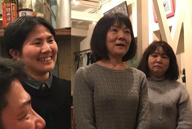 カツオさん(写真左)、カツオさんの母(写真真ん中)、カツオさんの叔母(写真右)