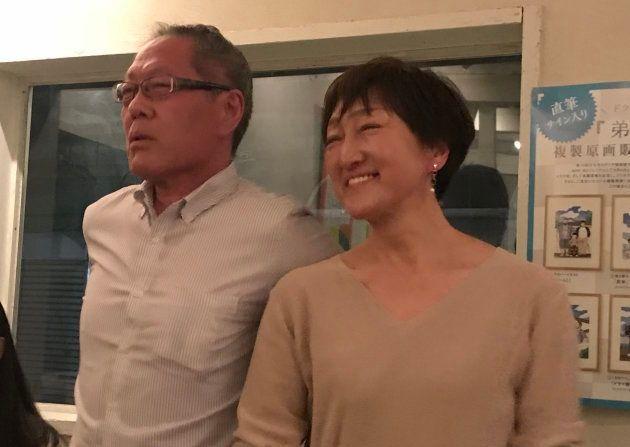 小林良子さん(写真右)と夫のたけしさん(写真左)