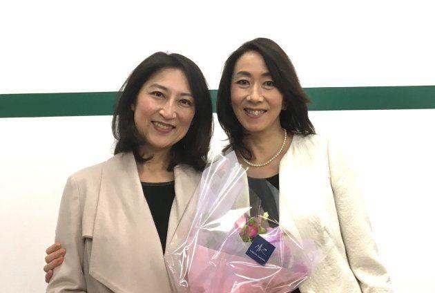 (左)大崎麻子さん(右)ハフポスト日本版編集主幹の長野智子