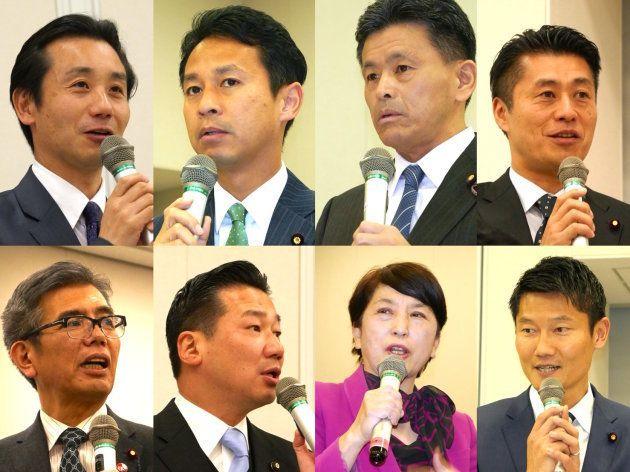 レインボー国会に参加した国会議員の方々(一部)※右上から発言順に掲載