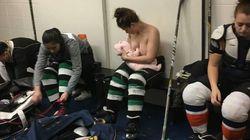 ママホッケー選手、試合の合間に授乳する姿を隠さなかった「授乳は美しくて、いつでもどこでもできる」