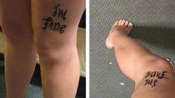 「私は大丈夫」でも、「助けて」。タトゥーがうつ病について伝えること