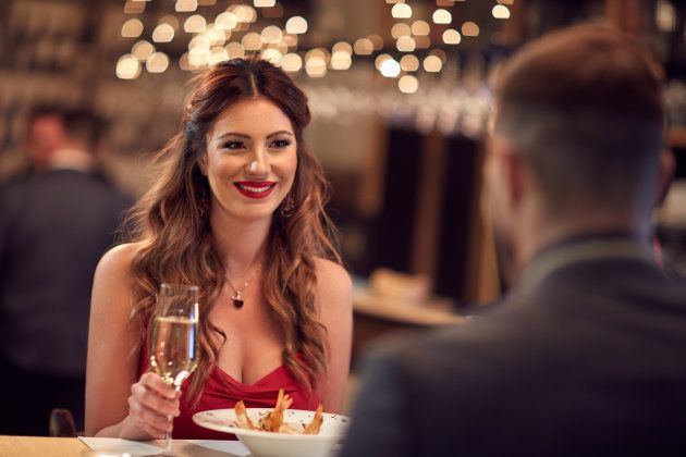 Couple celebrate Valentine's day with romantic dinner in